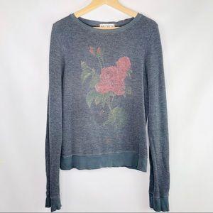 Wild Fox Floral Sweatshirt